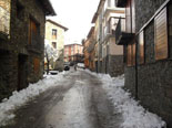 Nevada del 28 i 29 de gener Neu als carrers de Molló. Foto: Pep Coma