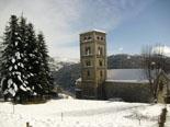 Nevada del 28 i 29 de gener L'església de Santa Cecília de Molló nevada. Foto: Pep Coma