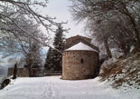 Nevada del 28 i 29 de gener Sant Martí de Surroca (Ogassa) nevat. Foto: Ramon