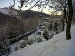 Nevada del 28 i 29 de gener Planoles nevat diumenge al matí. Foto: Jordi Campos