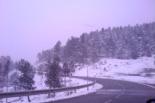 Temporal de neu i vent del 4 de maig La collada de Toses ben blanca. Foto: Carles Mauri