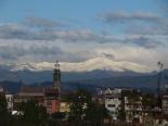 Primera gran nevada a les muntanyes El Puigmal des de Manlleu. Foto: Domènec Llop