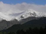 Primera gran nevada a les muntanyes El Torreneules des del coll de Jou. Foto: Josep Manuel Mercader/Meteoribes