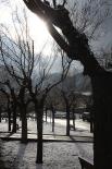 Llevantada 28 de febrer i 1 de març Enfarinada al barri de Sant Pere de Ripoll (dijous). Foto: Arnau Urgell