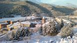Nevada del 22 de febrer Gombrèn s'ha despertat blanc. Foto: Hermenegild Falguera
