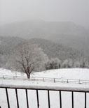 Nevada del 22 de febrer La nevada des del Mas la Serra del Boix de Ripoll. Foto: Serra del Boix