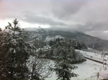 Nevada del 27-28 d'abril Campelles nevat (diumenge). Foto: Sílvia Gallart