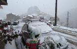 Nevada del 27-28 d'abril La Roca nevada (diumenge). Foto: David Muñoz