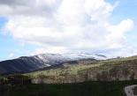 Nevada del 30 d'abril Serra Cavallera nevada des de Molló. Foto: Marcel Urgell
