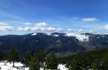 Nevada del 30 d'abril La serra de Mongrony des del collet de les Barraques. Foto: Josep Manuel Mercader/Meteoribes