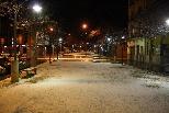 Nevada del 31 de gener al Ripollès El passeig de Sant Joan de Ripoll, enfarinat. Foto: Arnau Urgell