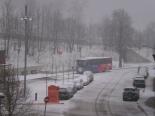 Nevada del 31 de gener al Ripollès L'estació d'autobusos de Camprodon coberta de neu. Foto: Manuel Rosales