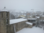 Nevada del 7 de gener Sant Sebastià ben blanc. Foto: Ajuntament de Molló