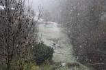 Nevada del 7 de gener Al migdia la nevada a Ripoll era intensa. Foto: Arnau Urgell