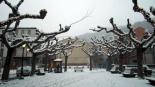 Nevada del 7 de gener Neu a la plaça del Mercat de Ribes. Foto: Laia Deler