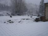 Nevada del 7 de gener Al migdia la neu ja feia gruix a Vallfogona. Foto: Ajuntament de Vallfogona