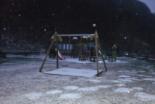 Nevada del 7 i el 8 de març Enfarinada a Camprodon el dissabte al vespre. Foto: Manuel Rosales