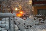 Nevada del 7 i el 8 de març Primera acumulació de neu a Ribes (08:00). Foto: Laia Deler