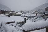 Nevada del 7 i el 8 de març Ripoll ben nevat (08:00). Foto: Arnau Urgell