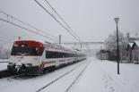 Nevada del 7 i el 8 de març L'estació de neu de Ripoll asolutament blanca (11:00). Foto: Arnau Urgell