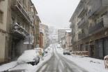Nevada del 7 i el 8 de març El carrer Girona ple de neu (11:00). Foto: Arnau Urgell