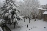 Nevada del 7 i el 8 de març Primeres acumulacions de neu a Sant Joan (09:00). Foto: Steve Cedar