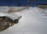 Nevada i ventada del 2-3 de febrer Congesta de neu a Planoles. Foto: Jordi Bober