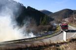 Nevada i ventada del 2-3 de febrer Petit incendi a Vistalegre de Ripoll. Foto: Arnau Urgell