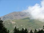 Paisatges de la Vall de Ribes El Puigmal cobert de núvols des del collet de les Barraques
