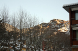 L'endemà de la gran nevada El sol surt a Ribes (08:00). Foto: Laia Deler