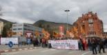 El 2009 al Ripollès, en 100 imatges Unes 700 persones donen suport als treballadors de Comforsa (Ripoll, 13 d'abril) Foto: Arnau Urgell