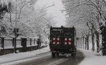 L'any 2010 en 100 imatges Un comboi militar a Ripoll en plena nevada del 8 de març. Foto: Arnau Urgell