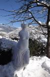 L'any 2010 en 100 imatges Art amb la neu i el gel d'Eudald Alabau. La foto de la Venus va ser premiada a l'Espai Terra de TV3. Foto: Eudald Alabau