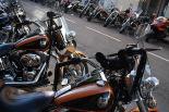 L'any 2010 en 100 imatges Centenars de Harley Davidson es concentren a la carretera de Barcelona de Ripoll. Foto: Arnau Urgell