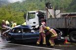 Resum 2011 Accident a la N-260 a Sant Joan que es va saldar amb dos morts. Foto: Arnau Urgell