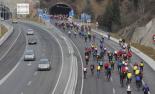 El 2012 al Ripollès, en 125 imatges Tercera marxa lenta ciclista per reivindicar el pas per la C-17. Foto: Xevi Mas