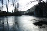El 2012 al Ripollès, en 125 imatges El Ter glaçat a Ripoll per la siberiana. Foto: Arnau Urgell