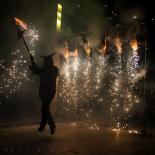 El 2012 al Ripollès, en 125 imatges Correfoc de Sant Eudald. Foto: Rastres (Gerard Garcia i Raül Duque)