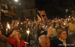 El 2012 al Ripollès, en 125 imatges Marxa de torxes la vigília de la Diada a Ribes. Foto: Arnau Urgell