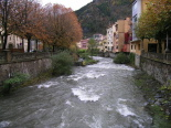 Crescuda rius pluges 3-4 novembre El Freser des de la plaça del Mercat (4 de novembre). Foto: Foto: Josep Manuel Mercader/Meteoribes