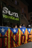 Concentració a favor del català a l'escola a Ripoll