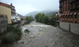 Temporal de pluja del 10 d'octubre El Ter a Camprodon. Foto: Marcel Urgell