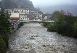 Temporal de pluja del 10 d'octubre El Ter a Camprodon abans de l'aiguabarreig. Foto: Marcel Urgell