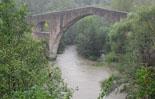 Temporal de pluja del 10 d'octubre El Ter a Sant Joan de les Abadesses. Foto: Protecció Civil Sant Joan