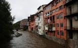 Temporal de pluja del 10 d'octubre El Ter a la Lira de Ripoll. Foto: Arnau Urgell