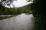 Temporal de pluja del 10 d'octubre El Freser abans de l'aiguabarreig de Ripoll. Foto: Arnau Urgell
