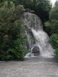 Temporal de pluja del 10 d'octubre Cascada a la zona del pont de la Cabreta de Campdevànol. Foto: Arnau Urgell