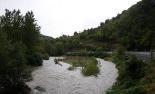 Temporal de pluja del 10 d'octubre Meandre del pont de la Cabreta, al límit dels termes de Campdevànol i Campelles. Foto: Arnau Urgell