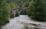 Temporal de pluja del 10 d'octubre El Freser al pont de la Cabreta de Campdevànol. Foto: Arnau Urgell