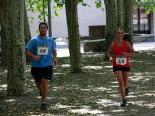 I Cursa de les Quatre Ermites de Ripoll Laura Prat arribant a la meta del passeig Ragull. Foto: Arnau Urgell